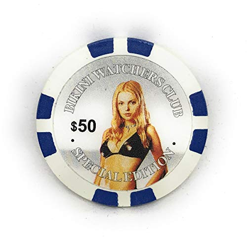 Bikini Watchers Club Special Edition - Fichas de póquer (100 unidades), color azul