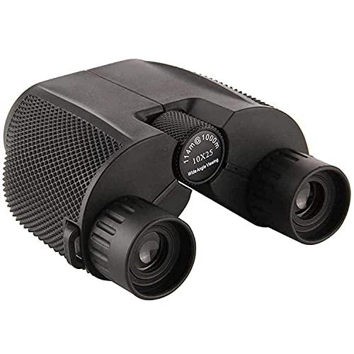 Prismáticos 10x25 Compacto Ultra HD Profesionales con Prismas BAK4 y FMC, Binoculares Plegable con visión Nocturna Largo Alcance para Observación de Aves, Caza, Eventos Deportivos