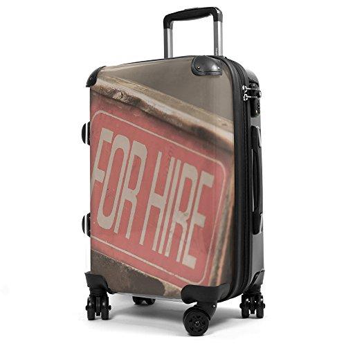 Hauptstadtkoffer® Style - Maleta rígida - 40 litros - Carcasa Delantera Transparente - DISEÑO Intercambiable - Cerradura TSA (For Hire)