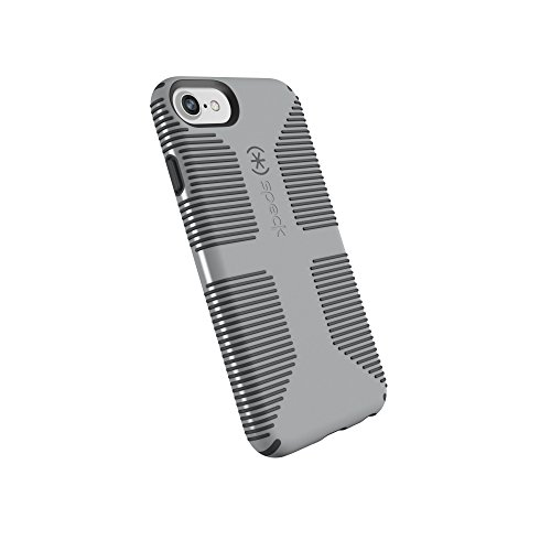 Speck Products CandyShell Grip Cell Phone Case for iPhone 8/7/6S/6 - Pebble Grey/Slate Grey