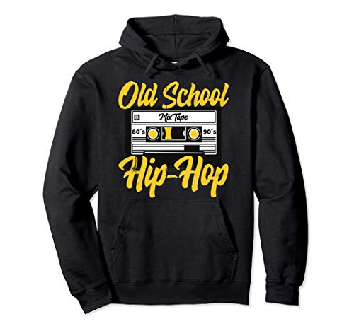 Retro Old School Hip Hop 80s 90s Graffiti Cassette Regalo Sudadera con Capucha