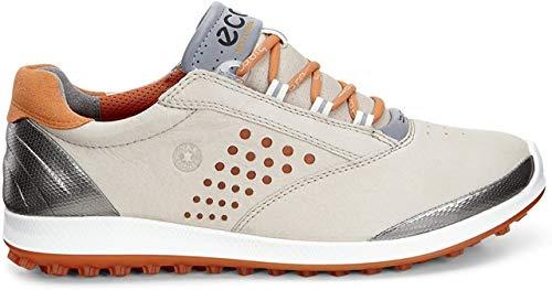 ECCO Women's Biom Hybrid 2 Golf Shoe, Oyster/Orange, 36 EU/5-5.5 M US