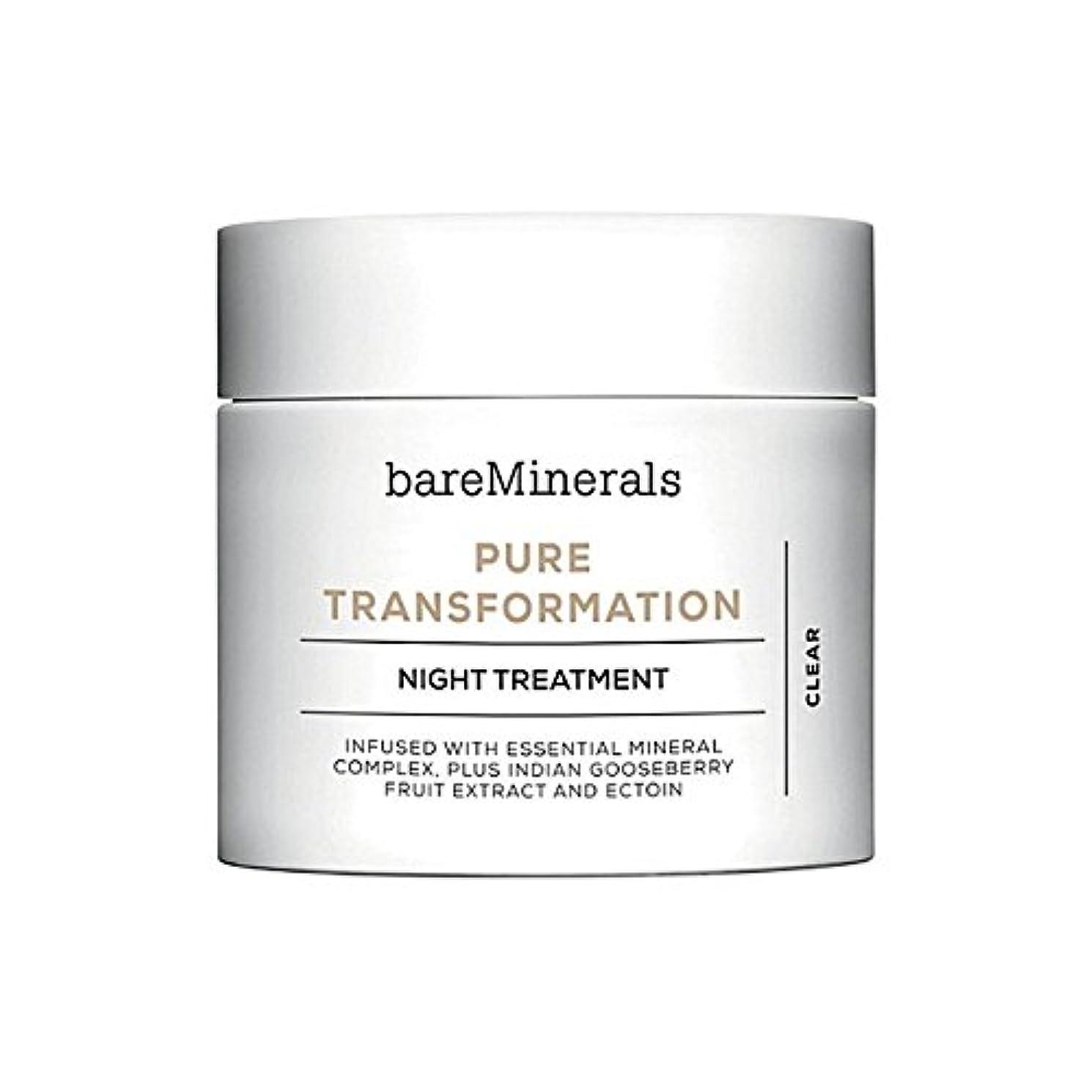 机曲寛大なベアミネラル純粋な変態夜の治療 x4 - Bare Minerals Skinsorials Pure Transformation Night Treatment (Pack of 4) [並行輸入品]