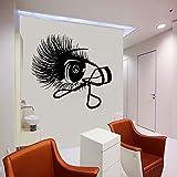 JXMN Cils Stickers muraux Salon de beauté Fille Chambre décoration intérieure fenêtre Vinyle Autocollant Cils bigoudis Cils Murale Art 57x60 cm