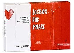 NEU: Losbox für Paare   Das Paar-Geschenk für 50 unvergessliche Momente   50 Lose mit Ideen für Spiel, Spaß & viel Liebe   Zur Hochzeit, zum Geburtstag & Jahrestag für Mann, Frau, Freund, Freundin