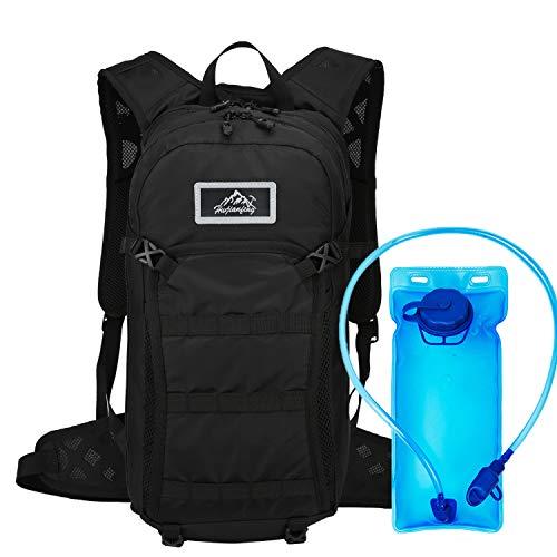 Mochila de hidratación de 15L, vejiga de Agua sin BPA de 2L, Mochila de Ciclismo Mochila de Montar Mochila de Bicicleta...