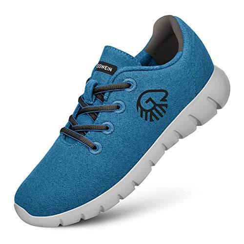 GIESSWEIN Merino Runners - Zapatillas de lana para hombre, color Azul, talla 44 EU