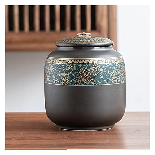 ONETOTOP Retro Lata sellada para té perfumado Caddy Candy Jars Organizador de café Embalaje Contenedores de condimentos de la Humedad Almacenamiento de Tanques a Prueba de Humedad