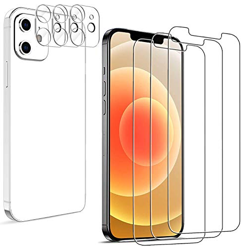 "Latch [6 Pack] 3 Pack Screen Protector for iPhone 12 5G 6.1"" + 3 Pack Camera Lens Protector for iPhone 12 Tempered Glass HD Clear [Anti-Scratch] [Case Friendly] [Bubble Free]"