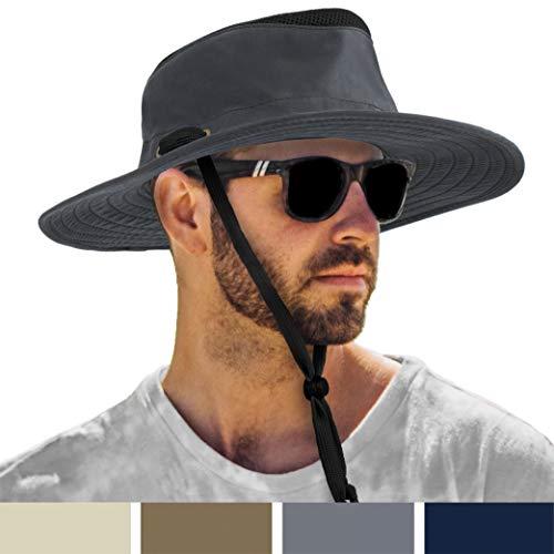 SUN CUBE Wide Brim Sun Hat for Men Outdoor Sun...