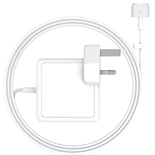 Compatible with Macbook Pro Charger, Bendable Replacement 85W 2 Magnetic T-Tip, Power Adapter Charger for MacBook Pro 13-inch and Works With MacBook Air 11-inch and 13-inch Late 2012