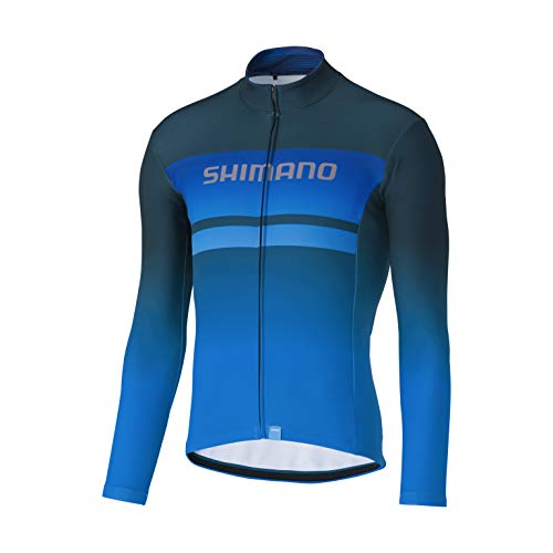 SHIMANO Maillot SH Team, Hombre, Azul, L