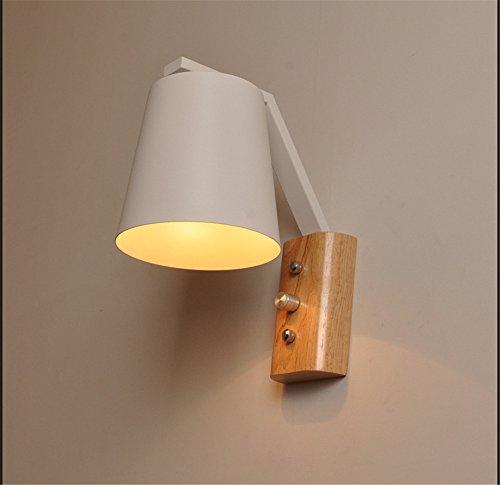 YU-K Chambre Simple Vintage wall lamp creative living salle à manger chambre lumières lumières allée wall lamp lampe de chevet chambre appliques led balcon escalier en bois d'allée, lampe murale 190mm * 230mm