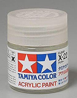 Tamiya America, Inc Acrylic X22 Gloss,Clear, TAM81022