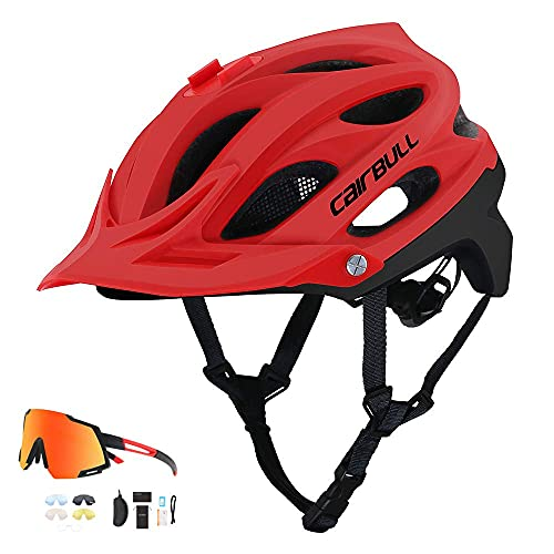 QTQZ Impacts Bike Helmet Action Camera può Essere installata, Tesa Staccabile, Unisex Road Race per Bike Riding Outdoor Sports Bicycle Cycle Helmet, D