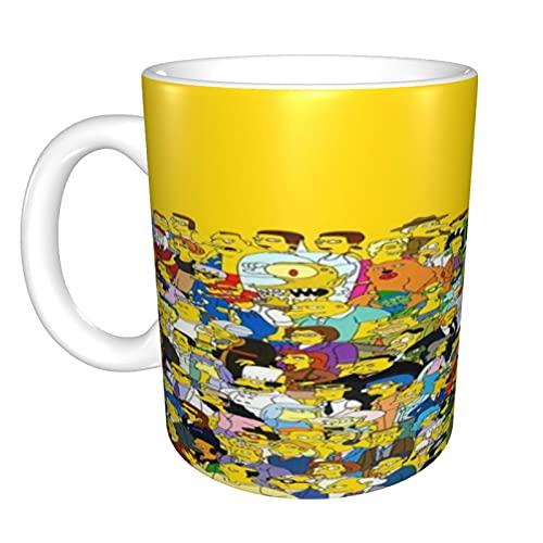 The Simpsons - Taza de café divertida, regalos divertidos para mujeres y hombres, 330 ml