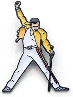 Freddie Mercury Metal Enamel Pin for Backpack/Bag/Jeans Clothes Badge Lapel Pin Brooch Jewelry 1pcs Novelty Collectors Collection Pin Button