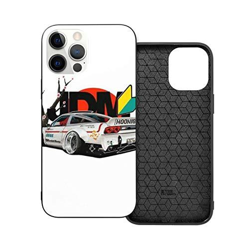 Compatible con iPhone 12/11 Pro MAX 12 Mini SE X/XS MAX XR 8 7 6 6s Plus Case JDM Cars Sketching Black White Model Negro Cajas del Teléfono Cover