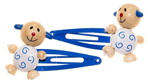 Legler 2 TLG. Set Holzschmuck Mädchenschmuck Kinderschmuck - 2 Haarspangen - Tiermotiv Hund