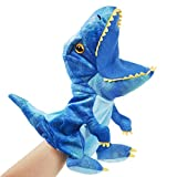 SpecialYou Plush Dinosaur Hand Puppets with Working Mouth for Imaginative Play T-rex Stuffed Toy for Toddler Kids on Christmas Halloween Birthday, 10''