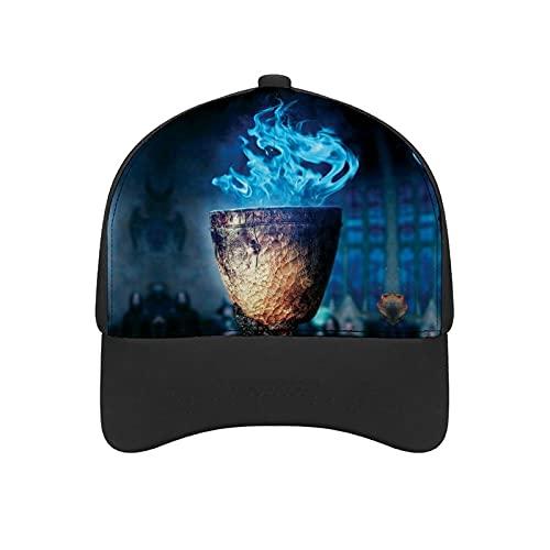 ハリーポッターと炎のゴブレット野球帽、快適で通気性の調節可能なサイズの女性用メンズ野球帽に沿って湾曲したトレンディなプリント 日焼け防止キャップ