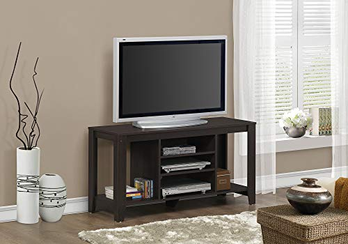 Monarch Specialties Cappuccino TV Console, 48-Inch