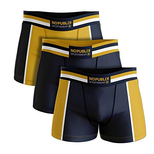 No Publik Lot de 3 Boxers Coton Homme Sportswear
