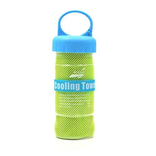CTOBB Snel Instant Icing Koeling Handdoek Microvezel Enduring Snelle Droog Bevroren Sport Handdoek Badkamer Handdoeken voor Workout Fitness,1,Met Fles