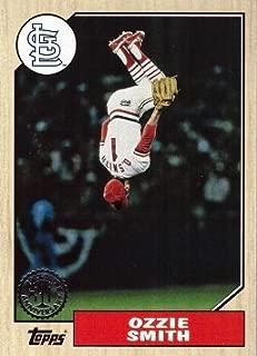 2017 Topps 1987 Topps #87-11 Ozzie Smith Baseball Card - Back Flip