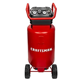 CRAFTSMAN Air Compressor 20 Gallon 1.8 HP Oil-Free Air Tools Max 175 PSI Pressure 2 Quick Coupler Long Lifecycle Low Noise Model  CMXECXA0232043 Red