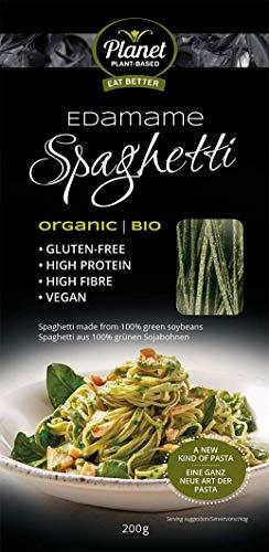 PLANET PLANT-BASED - Edamame Spaghetti - 100% Natürliche Vegane Nudeln - Soja Spaghetti - Bio Nudeln - Low Carb - Glutenfreie Pasta - Einzelpackung