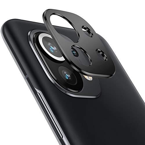 NOKOER Protector de Lente de Cámara para Xiaomi Mi 11, [2 Pack] Anillo Protector Metálico para la Cámara [Compatible con Funda] Anti-Arañazos Anti-Caídas - Negro