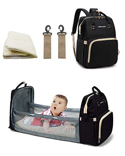 Acmebon Mochila para pa/ñales Impermeable Moderna de Gran Capacidad Mochila de Maternidad Cambiador para beb/és Gris