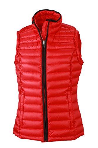 James & Nicholson Damen Jacke Weste Ladies Quilted Vest rot (Red/Black) XX-Large