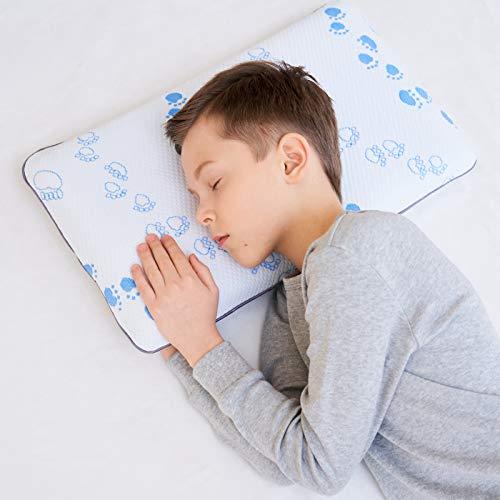 Memory Foam Kinderkissen weiches Nackenstützkissen flaches Kissen für Kinder (3-8 Jahre)