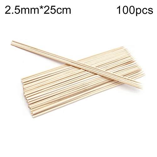 41Rl8VHuChL - hearsbeauty 50 / 100Pcs Tragbare Einweggrill BBQ Bambusspieße Fleisch Essen Fleischbällchen Holzstäbchen 2,5 mm * 25 cm