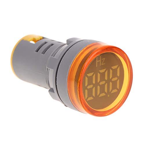 guangzhou 22Mm Pantalla LED Medidor de frecuencia de CA Electricidad Indicador de hercios Hz Luz piloto Medidor de frecuencia de Pantalla Grande Amarillo
