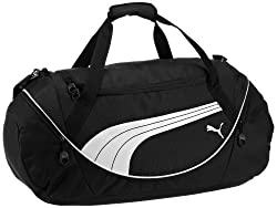 01e69af50961 PUMA s Teamsport is a men s machine-washable duffel bag made of sturdy  polyester and a great pick for gym-going purposes. It is roomy enough to  provide ...