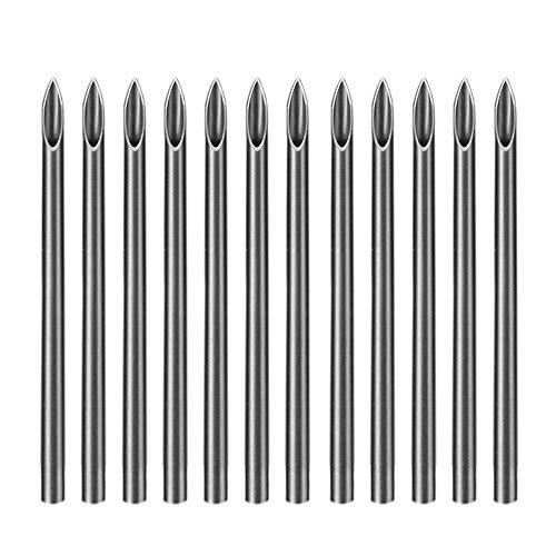 Atomus 100 Mix Body Piercing Needle Sizes 12g 14g, 16g, 18g and 20g Body Art Tattoo Equipment Supplies Tattoo Machine Tool Supply Body Piercing Tool (14G)