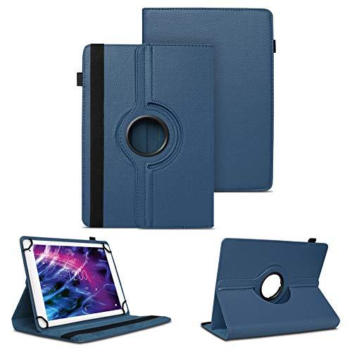 Tablet Schutzhülle für Medion Lifetab P10610 P10603 P10606 P10602 X10605 X10607 X10311 P9702 X10302 P10400 P10356 P10325 P10326 P10506 P10505 Hülle Tasche Standfunktion 360° Drehbar Cover Hülle, Farben:Blau