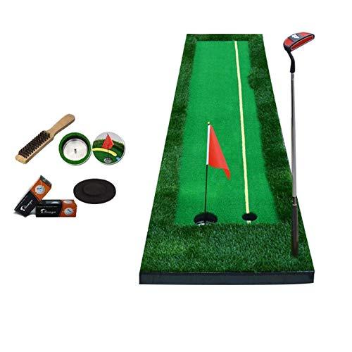 Golf Putting Mat portátil Portátil Non-Slip Golf Putiendo Ejercitador Verde Verde Turf Césped Hierba 0.5 * 3M / 0,5 * 3M para Oficina Interior de Patio Interior (Color: 2 Color) WTZ012