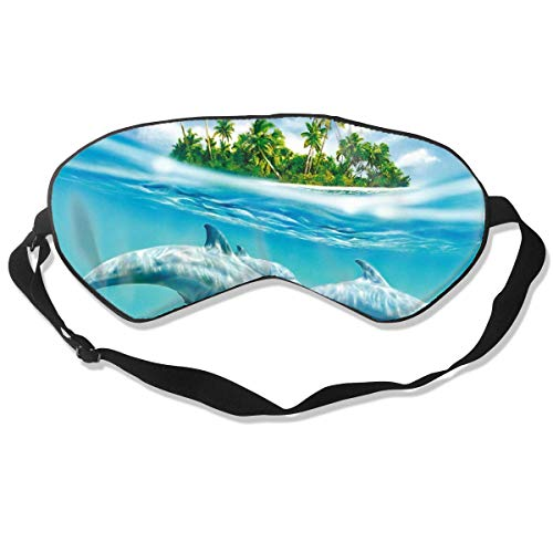 Dolphins Eye Shield Schlafende Augenbinde Polyester Eyeshade Eye Cover