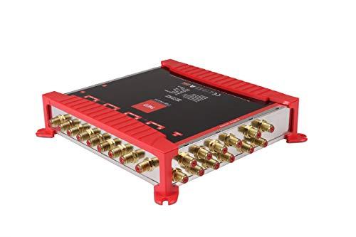 Opticum OMS 9/12 PRO Multischalter für den Empfang von Zwei Satellitenpositionen an bis zu 12 Teilnehmer/vergoldete Kontakte / 4K, 3D, UHD tauglich/Quattro LNB geeignet