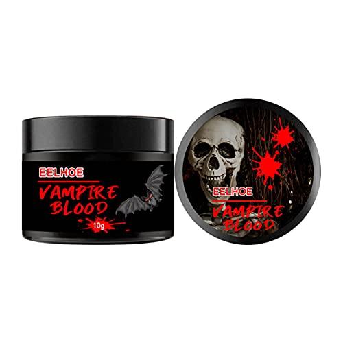 10x10g Sangre falsa, pintura facial profesional para el cuerpo, gel de sangre para coágulos falsos, vampiros de Halloween, cicatrices, moretones para el disfraz de cosplay realista de Fright Fest