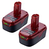 Powerextra 5.0Ah 19.2v Craftsman Lithium Replacement Battery Compatible with Craftsman C3, 130279005, 11375 11376, 11045,1323903, 315.115410, 315.11485, 315.114850, 315.114852,2Pack