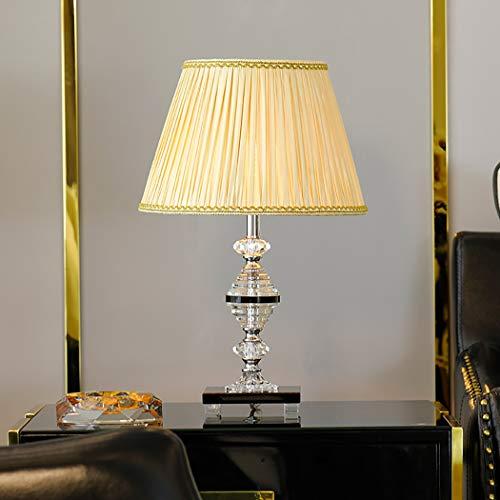 ZIXUAL Lámpara de escritorioLámpara de sobremesa de Cristal K9 de Gama Alta Lámpara de cabecera Tomshine, Adecuada para la Sala de Estar Habitación Estudio E27 / 110-240v-B-dimming