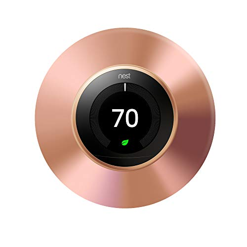 Nest Thermostat Wall Plate, 6 Inch, Copper Cover Plate, Fits Generation 1, 2, 3, E Nests