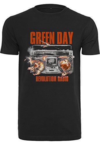 Merch Code Homme Green Day Radio Thé T-Shirt XS Noir