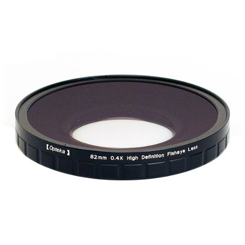 Opteka 82mm 0.4X HD2 Large Element Fisheye Lens for Panasonic AG-HVX200 and AG-HM700 Professional Video Camcorders