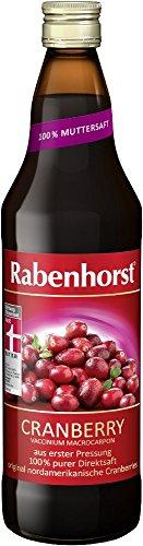 Rabenhorst Cranberry Muttersaft, 6er Pack (6 x 0.7 l)